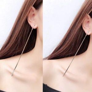 Chain long earrings